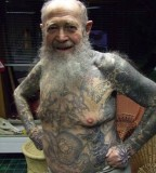 Awesome old man tattoos