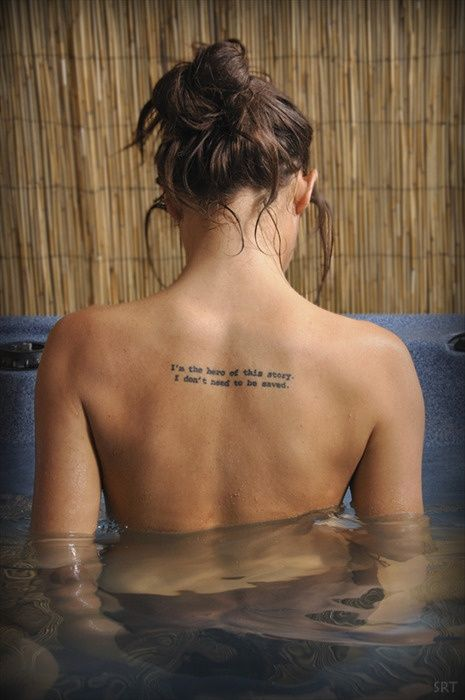 Awesome quotes tattoo for girl