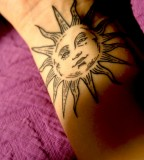 Awesome sun tattoo
