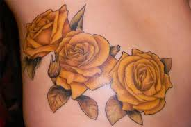 Awesome yellow tattoo
