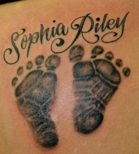 Baby feet tattoo
