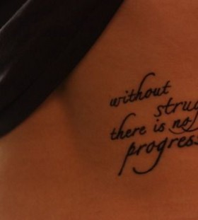 Back quotes tattoo
