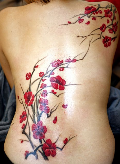 Back red tattoo