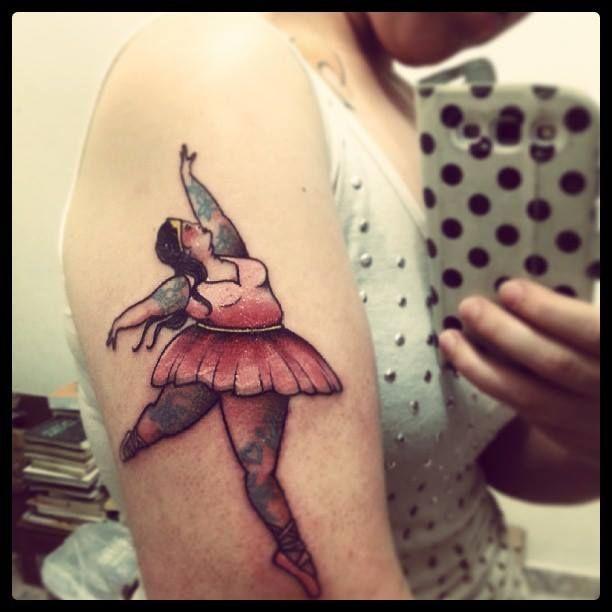 Ballet dancer tattoo
