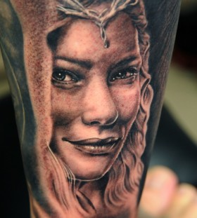 Beautiful woman tattoo by Andy Engel