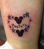 Believe disney stars tattoo