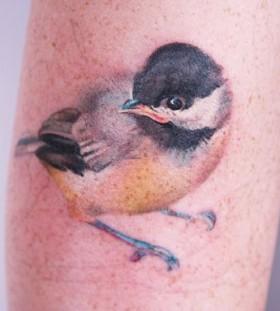 Bird tattoo by Amanda Wachob