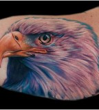 Black colorful eagle tattoo