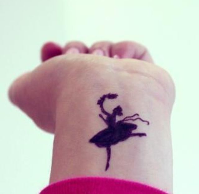 Black dancer tattoo