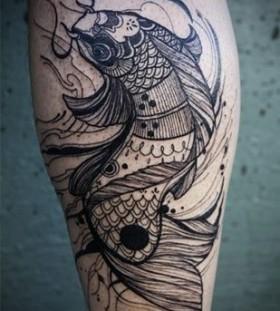 Black fish tattoo
