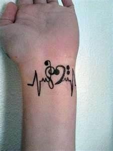 Black music tattoo