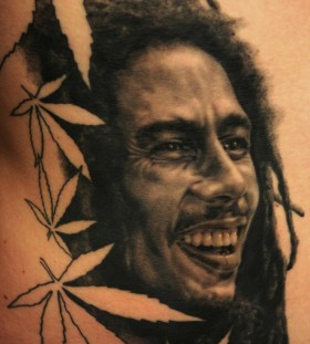Bob Marley tattoo by Andy Engel