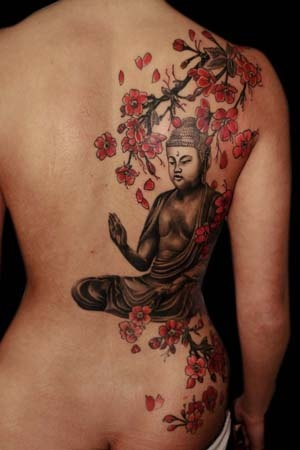 Buddha on back