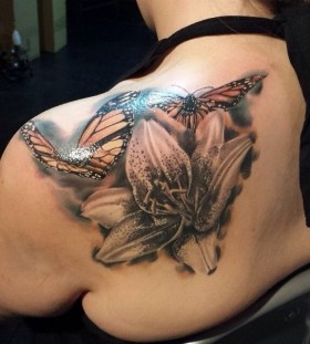 Butterfies tattoo by Duane