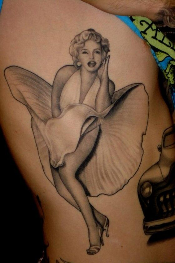 Classic Marilyn Monroe tattoo