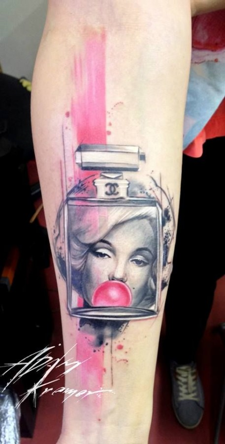 Colorful Marilyn Monroe tattoo