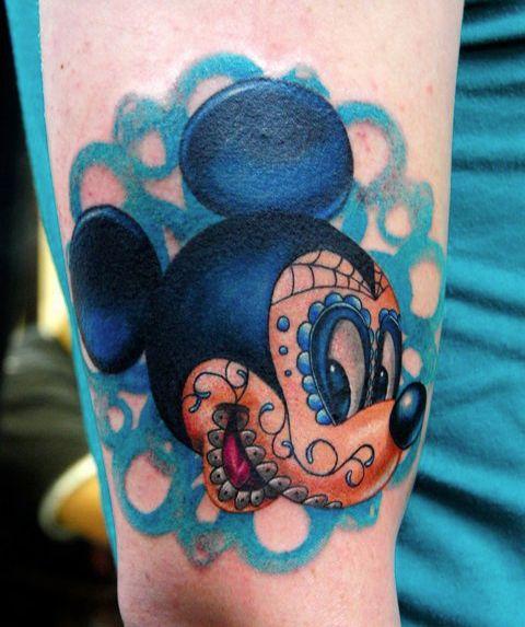 Colorful disney tattoo