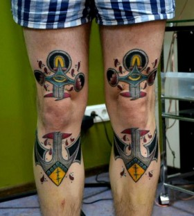 Colorful ornaments tattoo by Aivaras Lee