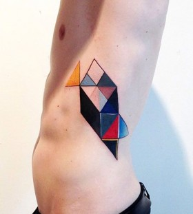 Colorful tattoo by Amanda Wachob