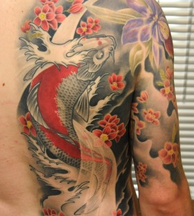 Colorful tattoo by Andy Engel