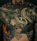Colorful tattoo by James Spencer Briggs