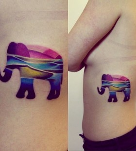 Cool elephants tattoo idea