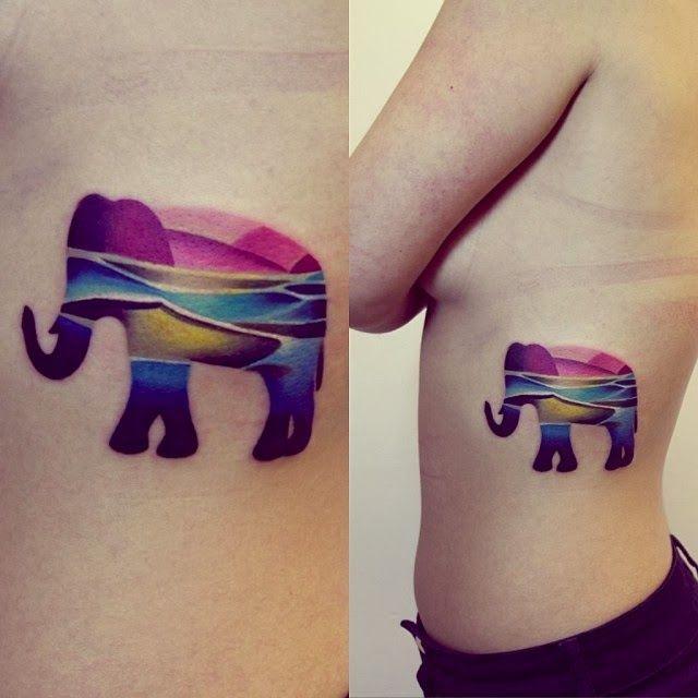 Cool elephants tattoo idea