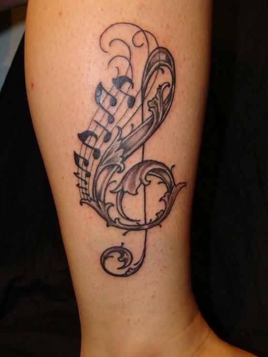 Cool music tattoo