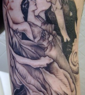 Couple dancers tattoo