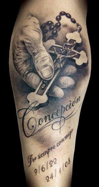 Cross religious tattoo