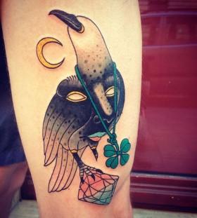 Crystal tattoo by Aivaras Lee