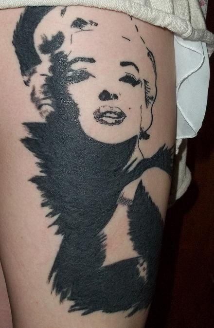 Cute Marilyn Monroe tattoo
