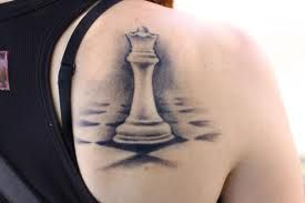 Cute chess tattoo