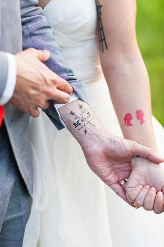 Cute weddings tattoo