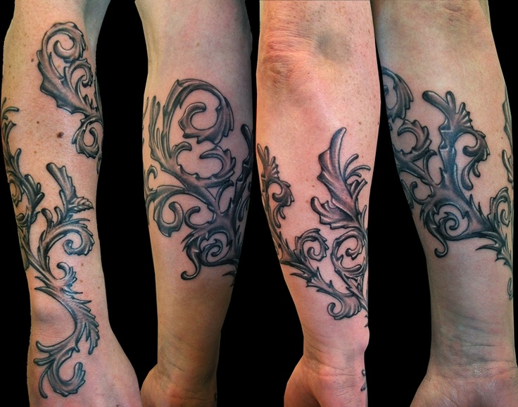 Dark ornaments tattoo by Meathshop