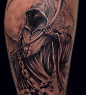 Death scary tattoo