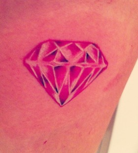 Diamond pink tattoo