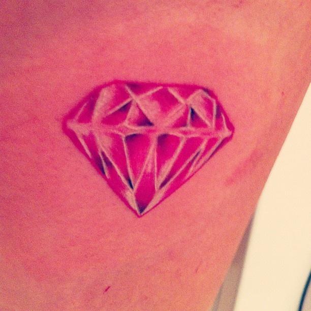 Diamond pink tattoo