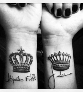 Diamonds crown tattoo