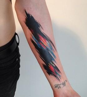 Different colors tattoo by Amanda Wachob