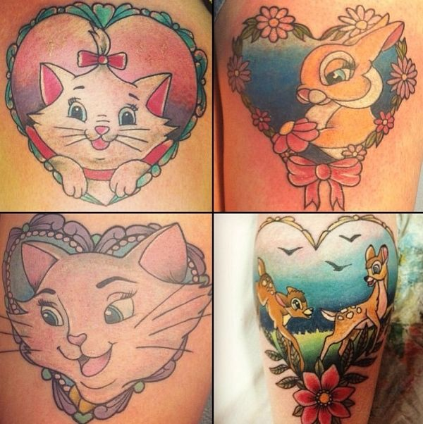 Disney animals tattoo