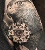 Eagle tattoo by James Spencer Briggs