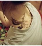 Eagle tattoo on neck