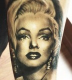 Fashionable Marilyn Monroe tattoo