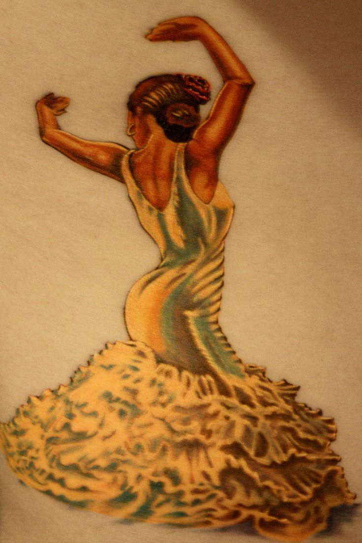Flamenco dancer tattoo