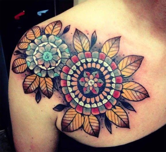 Flowers tattoo by Aivaras Lee