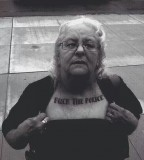 Fuck the police old age women tattoo
