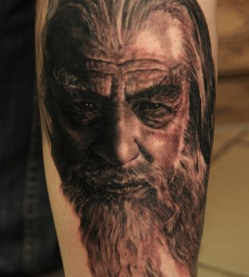 Gandalf Lord tattoo by Andy Engel