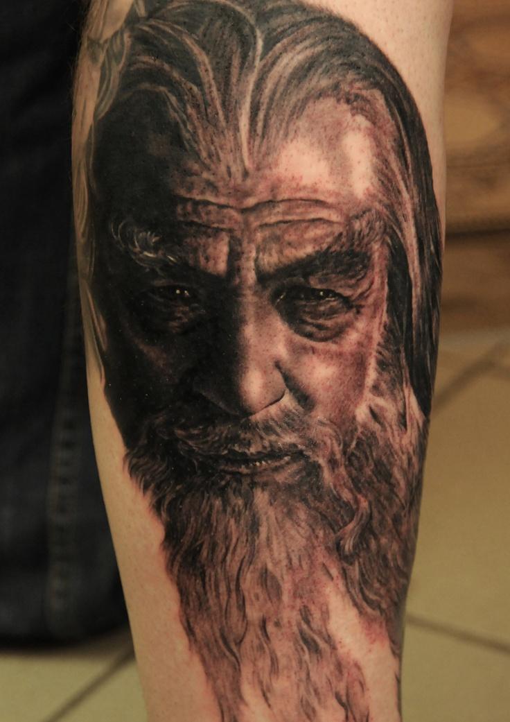 Gandalf Lord tattoo by Andy Engel