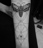 Geomteric butterfly tattoo